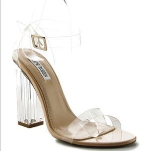 Cape Robbin Clear Strappy Heels